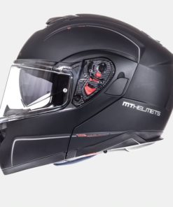 CASCO INTEGRAL MT ATOM SOLID NEGRO MATE