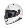 CASCO INTEGRAL MT THUNDER 3sv SOLID BLANCO PERLA BRILLO
