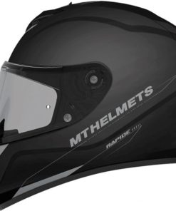 CASCO INTEGRAL MT RAPIDE SOLID A1 NEGRO BRILLO