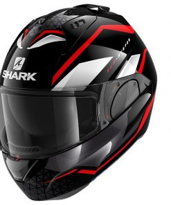 SHARK EVO ES YARI BLACK-RED-WHITE
